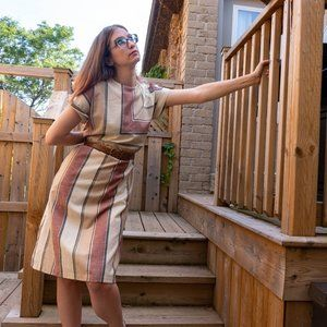 Vintage Modes Tracey Robyns Fashions Striped Dress